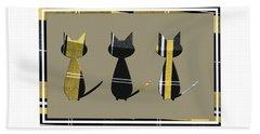 Cool Cats In Tartan Beach Sheet