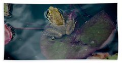 Cool Frog-hot Day Beach Towel