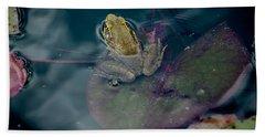 Cool Frog-hot Day Beach Sheet