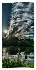 Cool Looking Cloud In The Morning Sun Beach Sheet