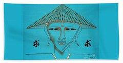 Coolie Buddha -- Stylized Buddha In Hat Beach Sheet