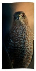Coopers Hawk At Sunset Beach Towel