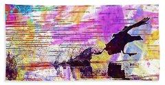 Beach Sheet featuring the digital art Coot Bird Water Bird  by PixBreak Art