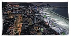 Copacabana Lights Beach Sheet