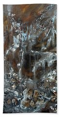 Beach Towel featuring the painting Copper And Mica by Joanne Smoley