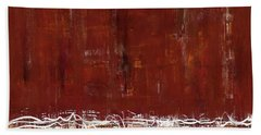 Copper Field Abstract Painting Beach Towel