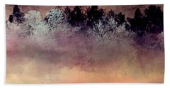 Beach Towel featuring the digital art Copper Lake by Jessica Wright