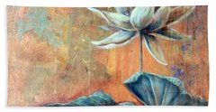 Copper Lotus Beach Towel