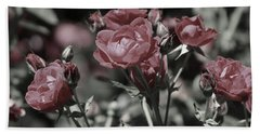 Copper Rouge Rose In Almost Black And White Beach Sheet