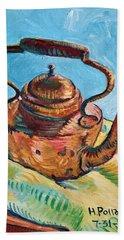 Copper Teapot Beach Towel