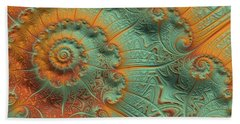 Copper Verdigris Beach Towel