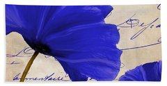 Coquelicots Bleue II Beach Towel