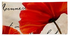Coquelicots Rouge II Beach Towel