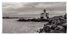 Coquille Lighthouse Oregon  Beach Towel