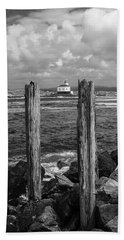 Coquille Lighthouse Beach Towel