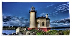 Coquille River Lighthouse Beach Towel by Thom Zehrfeld