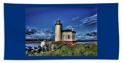 Beach Sheet featuring the photograph Coquille River Lighthouse by Thom Zehrfeld