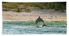 Coquina Dolphin Beach Towel