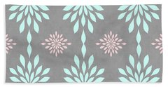 Coral And Turquoise Gray Beach Towel