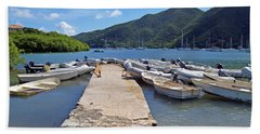 Coral Bay Dinghy Dock Beach Sheet