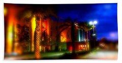 Coral Color Florida Beach Towel