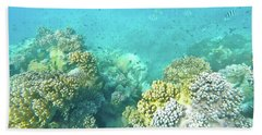 Beach Towel featuring the photograph Coral by Debbie Cundy