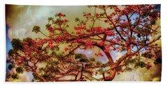 Coral Tree Beach Towel