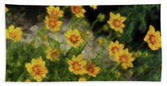 Coreopsis Tickseed Beach Towel