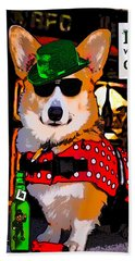 Corgi - Drinks Well With Others Beach Towel