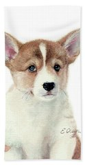 Corgi Pup Beach Sheet