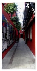 Cork City Alleyway I Beach Towel