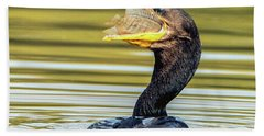 Cormorant With Fish 0977-111217-1cr Beach Towel