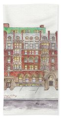 The Historic Corn Exchange Building In East Harlem Beach Towel