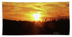 Corn Field Sunset Beach Towel