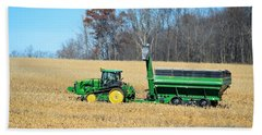 Corn Harvest Beach Towel by Bonfire Photography