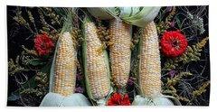 Corn Harvest Beach Towel