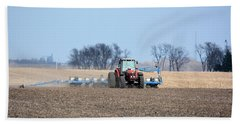 Corn Planting Beach Towel by Bonfire Photography