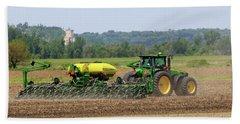 Corn Planting Fremont County Iowa Beach Towel