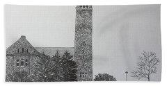 Cornell Clock Tower  Beach Towel