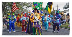 Corner Club 3 -mardi Gras New Orleans Beach Towel