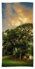 Beach Towel featuring the photograph Corner Oak by Marvin Spates