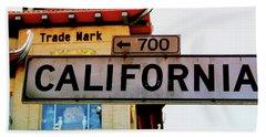 Corner Of California- Art By Linda Woods Beach Towel