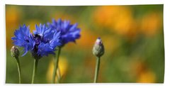 Cornflowers -2- Beach Towel