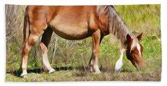 Corolla's Wild Horses Beach Towel