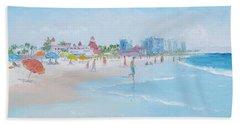 Coronado Beach San Diego Beach Towel by Jan Matson