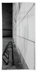 Corridor In Black And White Beach Towel