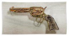Beach Towel featuring the photograph Corroded Peacemaker by YoPedro