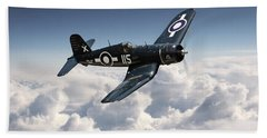 Corsair F4u - Royal Navy Beach Towel