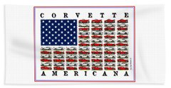 Corvette Americana Beach Towel