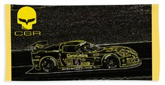 Corvette C6r Art Beach Towel